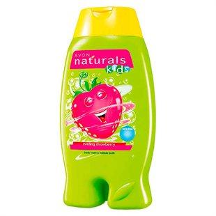 Kids Swirling Strawberry Body Wash & Bubble Bath - 250ml