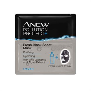 Anew Pollution Protect Fresh Black Sheet Mask - Pack of 3